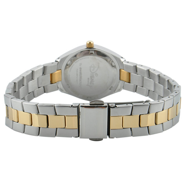 Disney Mickey Mouse Womens Two Tone Bracelet Watch-W001907