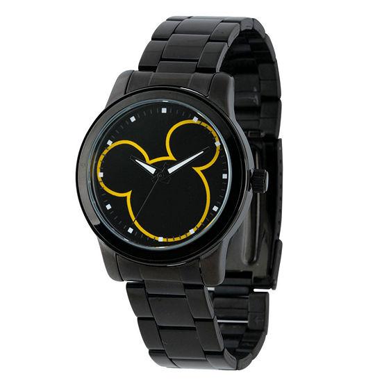 Disney Collection Mickey Mouse Mens Black Bracelet Watch-W001989