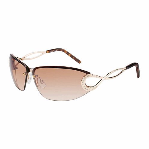 Rocawear Rimless Rectangular UV Protection Sunglasses-Womens