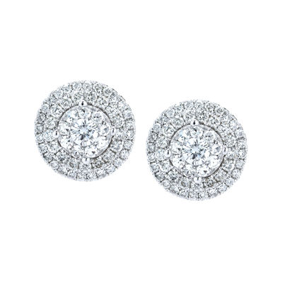 Brilliant Dream™  2 CT. T.W. Diamond Cluster Stud Earrings