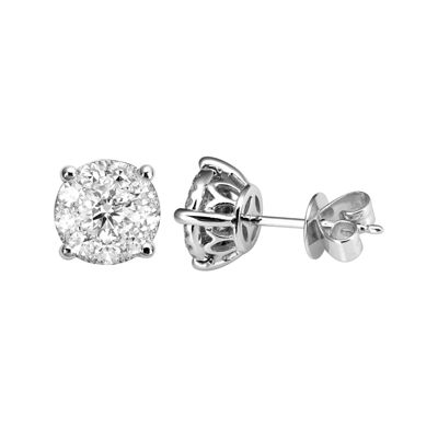 Brilliant Dream™  1½ CT. T.W. Diamond Cluster Stud Earrings