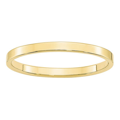 Womens 2mm 10K Gold Band