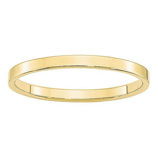 Womens 2MM 10K Gold Wedding Band