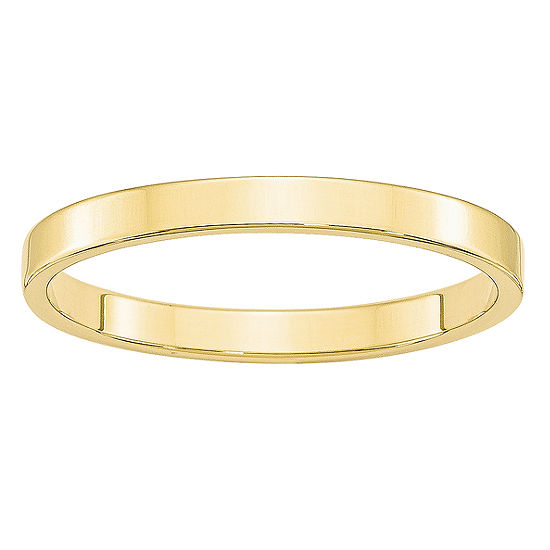 Womens 2.5MM 10K Gold Wedding Band