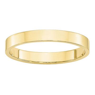 Mens 3mm 10K Gold Band