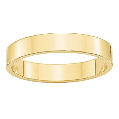 Womens 4MM 10K Gold Wedding Band