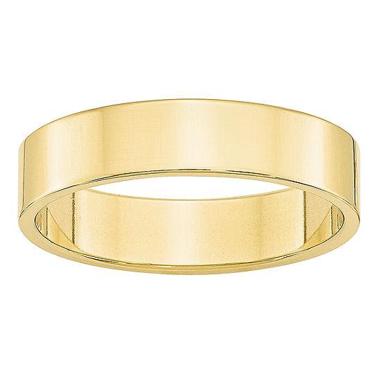Womens 5MM 10K Gold Wedding Band
