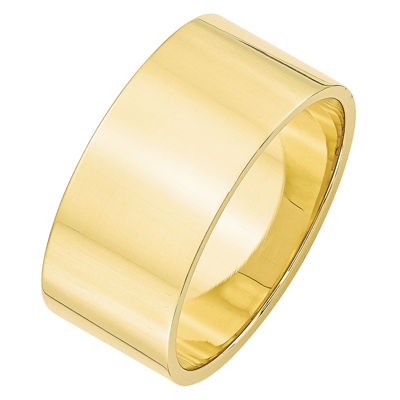 Mens 10MM 10K Gold Wedding Band