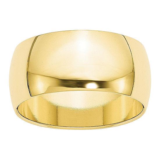 Womens 10MM 10K Gold Wedding Band