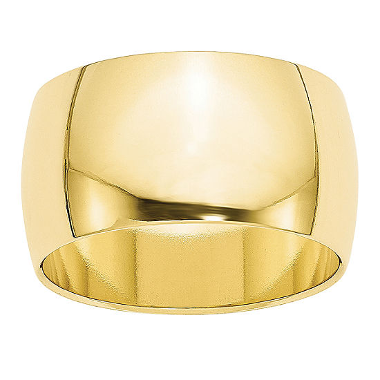 Mens 12MM 10K Gold Wedding Band