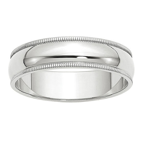 Womens 6mm 10k Gold Wedding Band