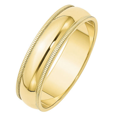 Womens 6mm 10K Gold Band