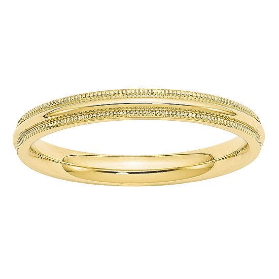 Mens 3MM 10K Gold Wedding Band