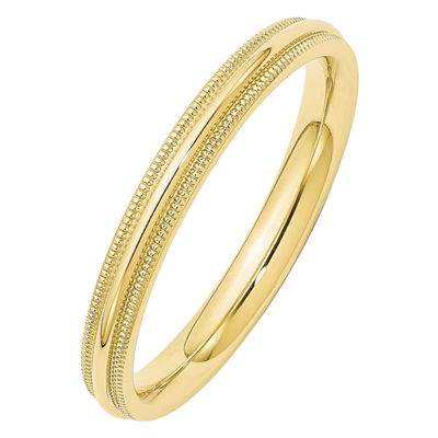 Womens 3mm 10K Gold Band