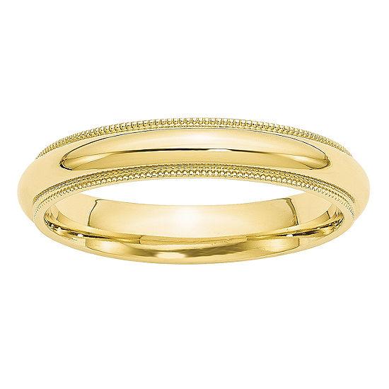 4MM 10K Gold Wedding Band