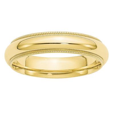 Mens 5MM 10K Gold Wedding Band