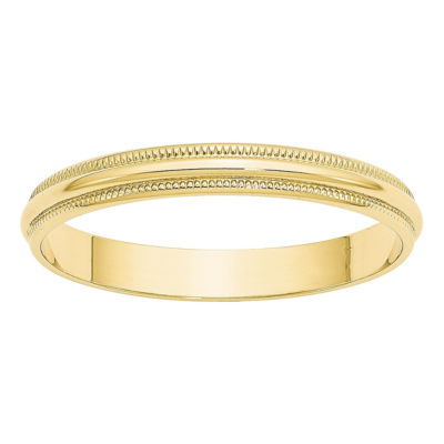 Mens 3mm 10K Gold Band