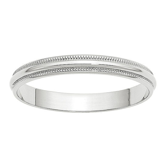 Womens 3MM 10K Gold Wedding Band