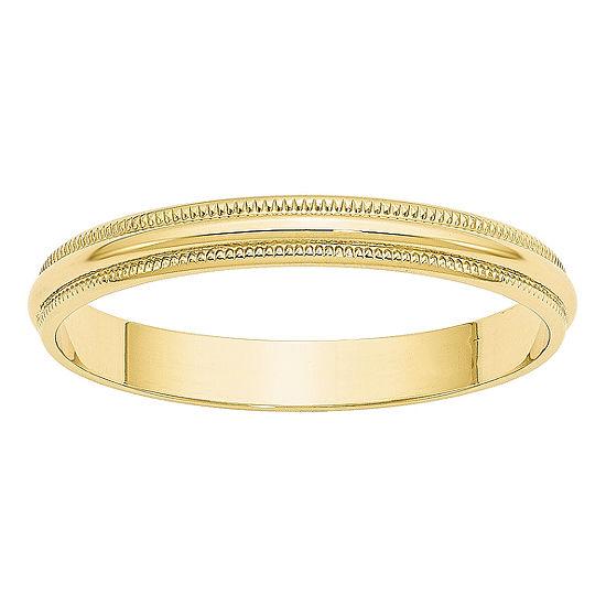 Womens 3MM 10K Gold Wedding Band