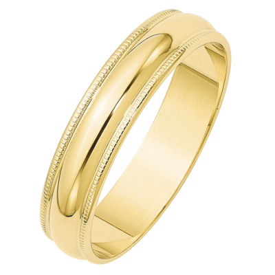 Mens 10K Gold Wedding Band
