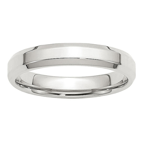 Mens 4MM Sterling Silver Wedding Band