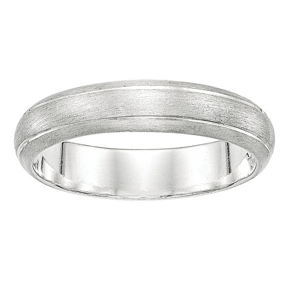 Womens Sterling Silver Wedding Band
