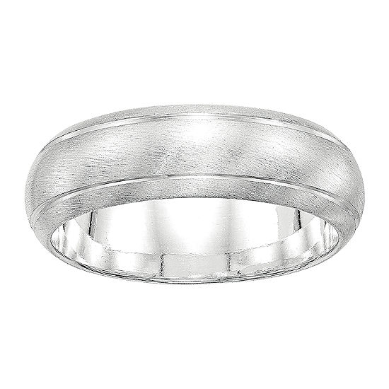 Womens 7MM Sterling Silver Wedding Band