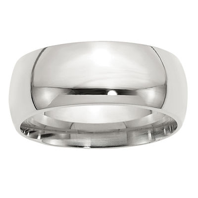 Mens 9M Sterling Silver Band