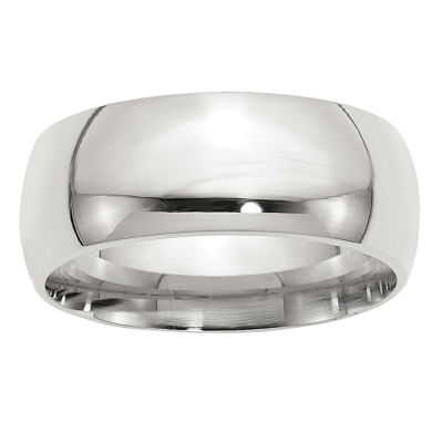 Womens 9M Sterling Silver Band