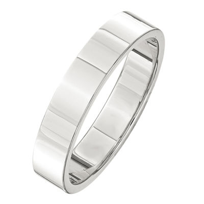 Mens 4mm Sterling Silver Band