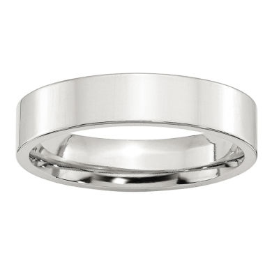 Mens 5MM Sterling Silver Wedding Band