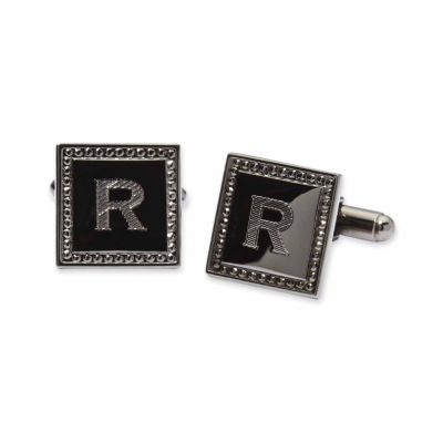 Personalized Square Gun Metal Cuff Links