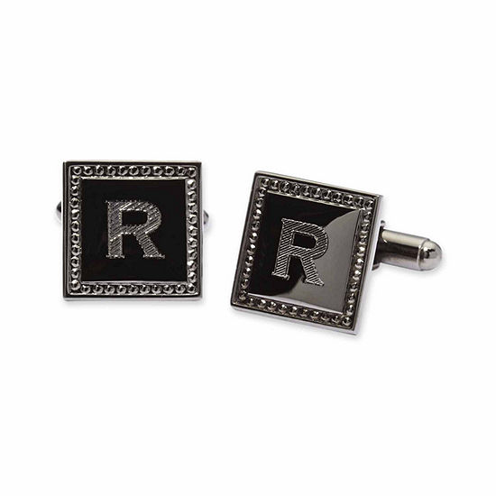 Personalized Square Gun Metal Cuff Links