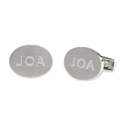 Personalized Oval Stainless Steel Cuff Links