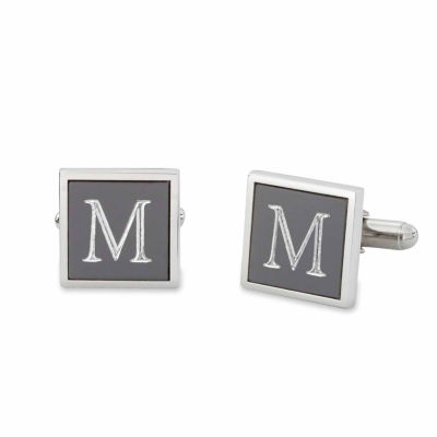 Personalized Anodized Aluminum Square Cuff Links