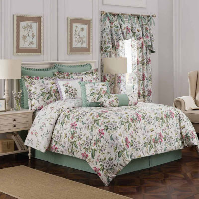 Williamsburg 4-pc. Floral Comforter Set