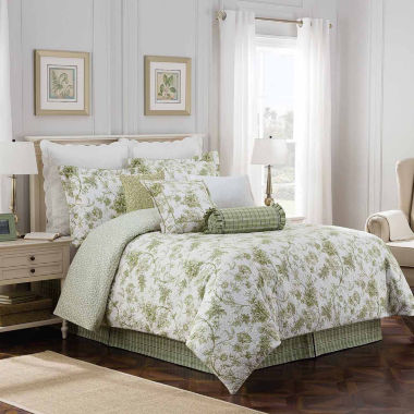 Williamsburg Burwell 4-pc. Floral Comforter Set