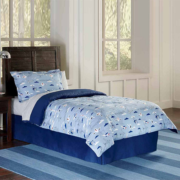Lullaby Bedding Airplanes Lightweight Comforter Set