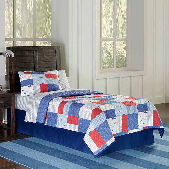 Lullaby Bedding Airplanes Quilt Set