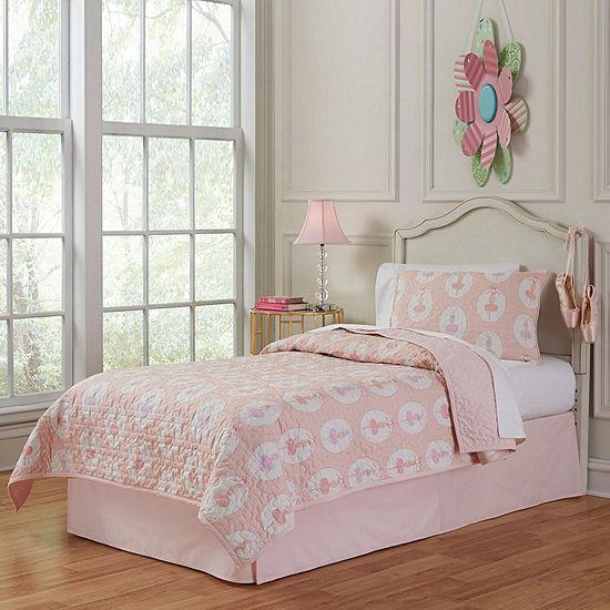 Lullaby Bedding Ballerina Quilt Set