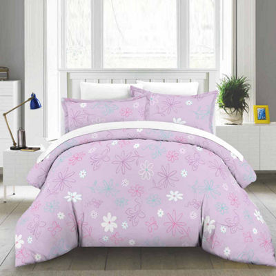 Lullaby Bedding Butterfly Floral Lightweight Comforter Set