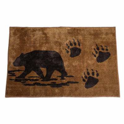 Hiend Accents Rustic Bear Bath Rug