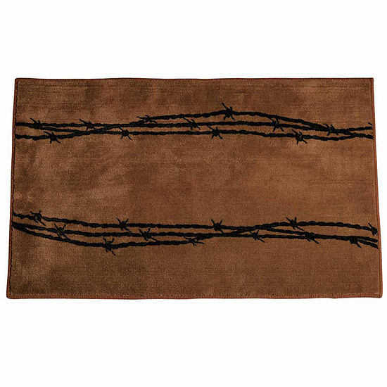 Hiend Accents Barbwire Bath Rug Collection