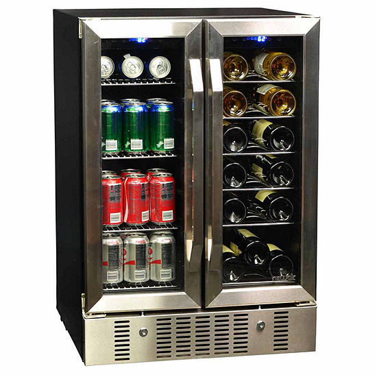 NewAir AWB-360DB 18 Bottle 60 Can Dual Zone Built-in Compressor Wine Beverage Cooler
