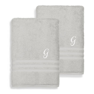 Linum Home Denzi Monogrammed Bath Sheets (Set Of 2)