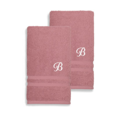 Linum Home Denzi Monogrammed Hand Towels (Set Of 2)