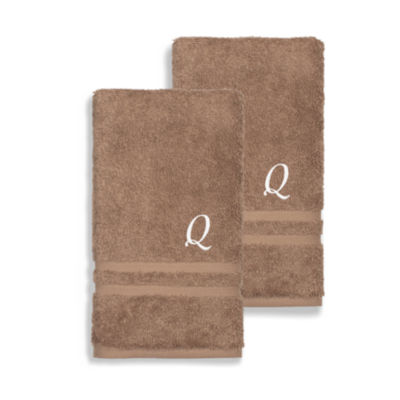 Linum Home Denzi Monogrammed Hand Towels (Set Of 2)