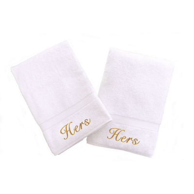 Linum Home Hers And Hers Hand Towels (Set Of 2)