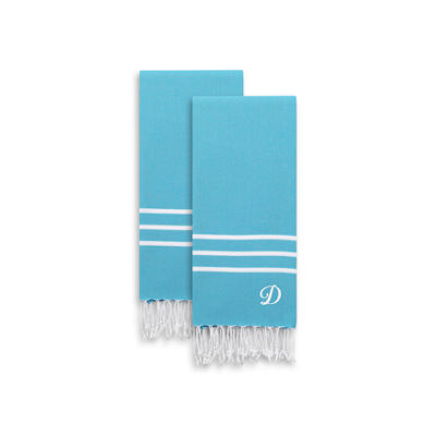 Linum Home Textiles Alara  Personalized Turkish Pestemal Hand/Guest Towels (Set Of 2)