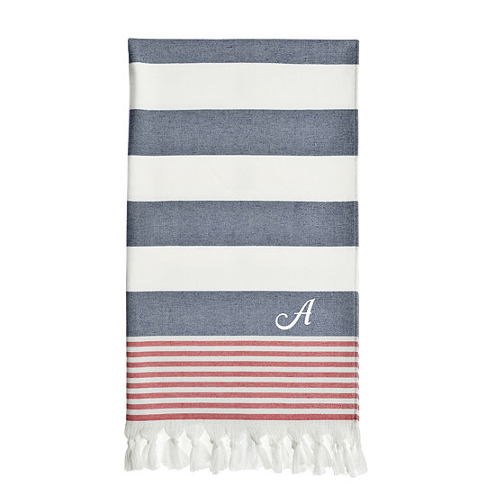 Linum Home Textiles Patriotic Personalized Pestemal Beach Towel